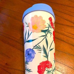 Kate Spade floral travel mug